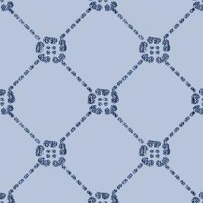 NEW flowery-diamondy MINOAN BLUE on LIGHT CAL-BLUEGREY blwhtfabricdark6LUMIN-Minoanblue--LT-CALblgrey218-15-85bkgr-sRGB-3inch-150_copy
