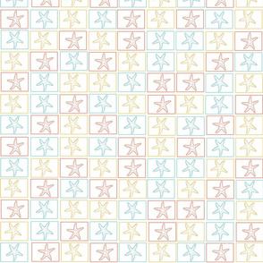 Starfish Squares Small Print