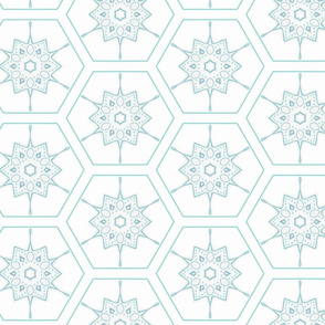 Starburst Geometric Flowers
