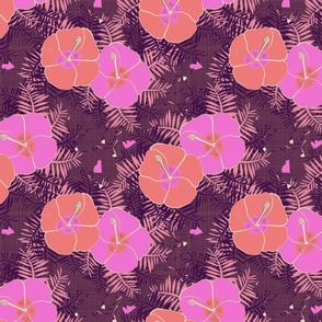 Hawaiian Limited Color Hibiscus Print