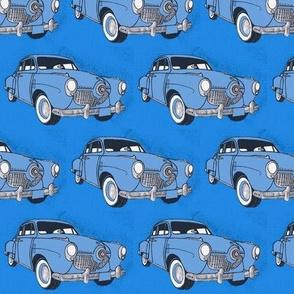 Huge 1951 bulletnose Studebakers facing right