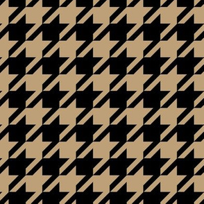 16-09a Mocha Latte Khaki &  Black Houndstooth_Miss Chiff Designs