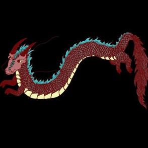 Fantasy Dragons on Black
