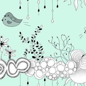 Bird love in the air mint