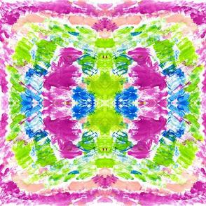 watercolor kaleidoscope MEDIUM  berry splash