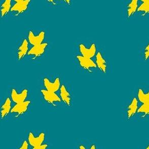 mother's hens (blue lagoon+yellow pop!)