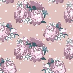 Peonies (tea rose on taupe)