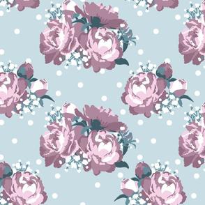 Peonies (tea rose on mint)