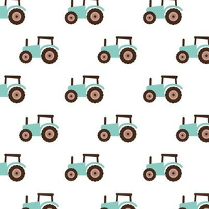 Super cool kids tractor farm truck country side adventures mint brown retro