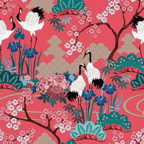 Japanese Garden Red 14 in