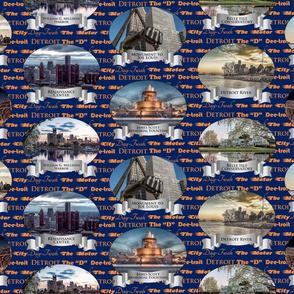 Detroit Navy/Orange Background