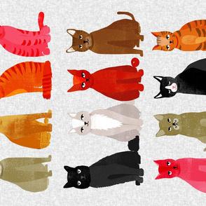 tea towel // light cats kittens cute pets design
