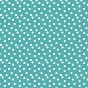 dots //   aqua turquoise dots spots white cute baby nursery