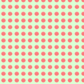 A 3 Abril 2011 - Pink salmoncito polka dots fabric pistache backround
