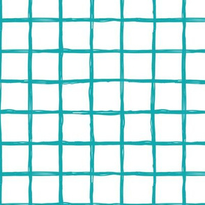 Abstract geometric blue and white checkered square stripe trend pattern grid