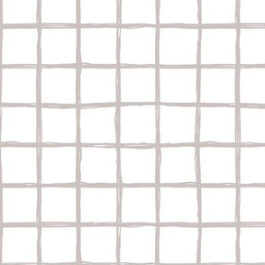 Abstract geometric white beige square checkered stripe trend pattern grid