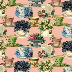 Vintage Teacups (pink)
