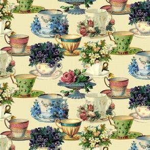 Vintage Teacups (ivory)