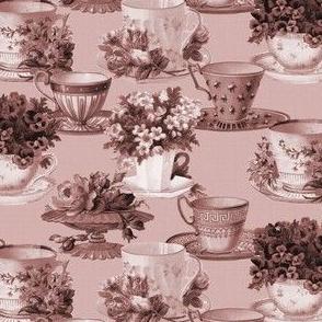 Teacups (tea rose / mono)