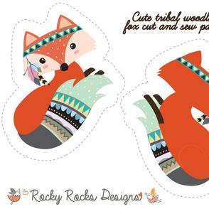 Cut and sew Tribal Woodland Fox