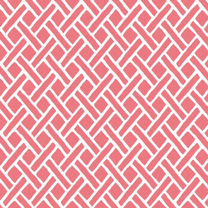 Savannah Trellis in Paeonia Pink, Half Scale