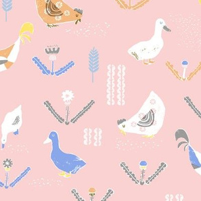 chicken and duck pink