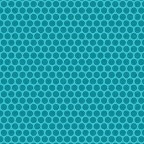 Teal Tone Honeycomb Dot