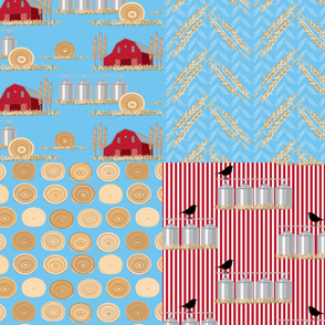 "15-04C Farm Fat Quarters Large Scale 42""_Miss Chiff Designs"