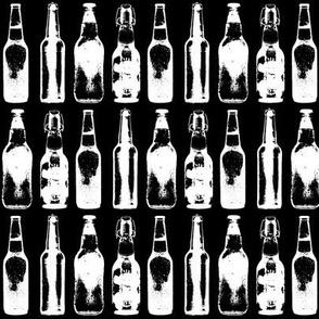 Beer Bottles on Black
