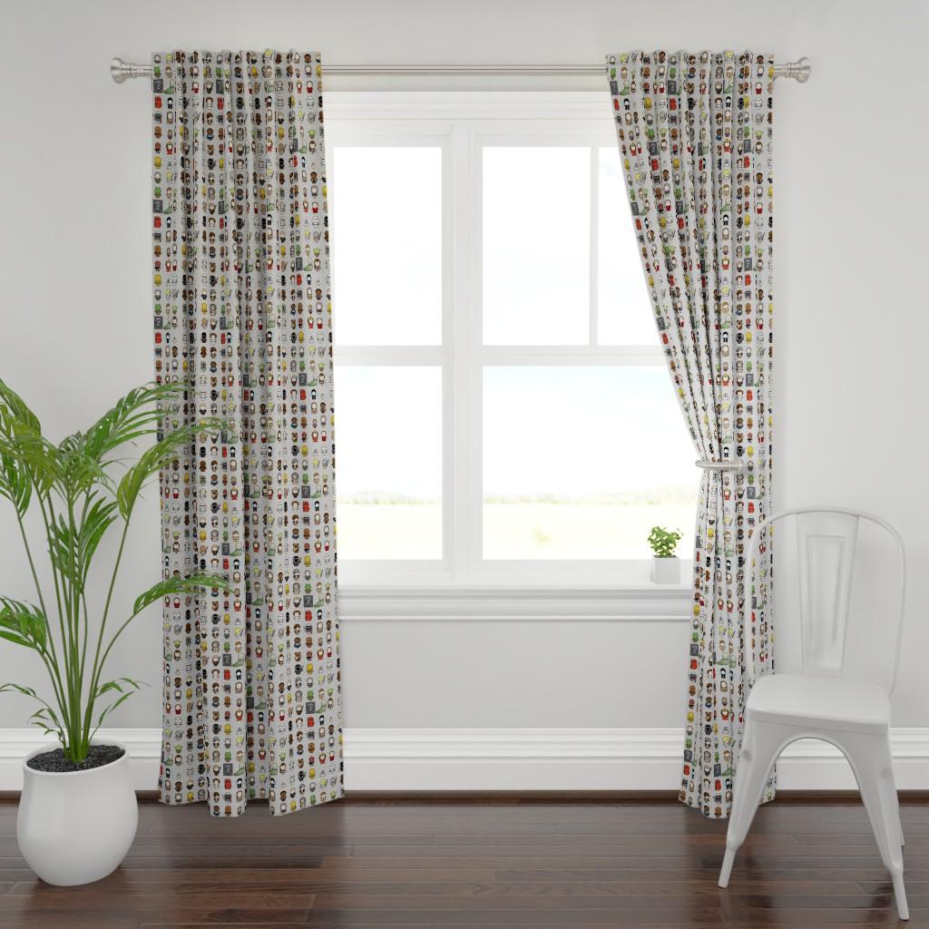 Plymouth Curtain Panel featuring A Galaxy Far Far Away (gray) by studiofibonacci