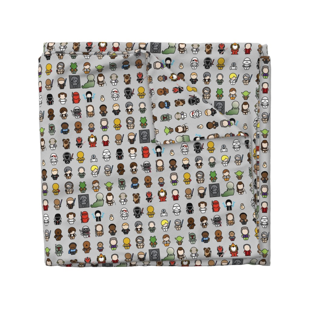 Wyandotte Duvet Cover featuring A Galaxy Far Far Away (gray) by studiofibonacci
