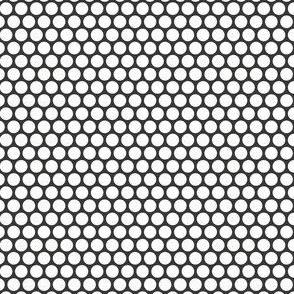 White Honeycomb Dot on Charcoal