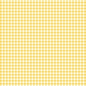 "Yellow and white 5/8"" gingham check"