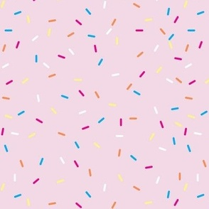 pink ice cream sprinkles