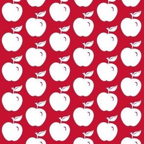 Apple white on red #C51230
