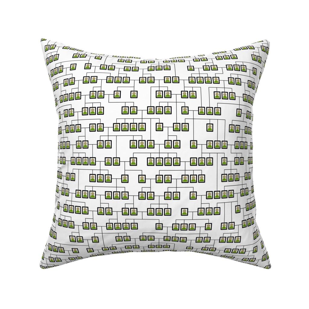 Catalan Throw Pillow featuring Geneological Chart by mongiesama