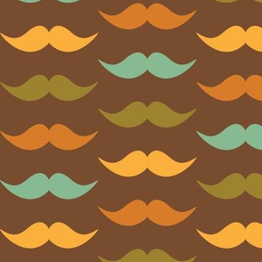 Father's Day - Hipster Moustaches - Brown