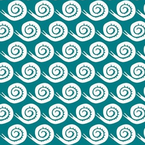 snails in teal small scale