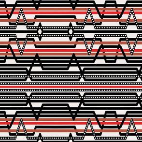 Cream ECG Stripes