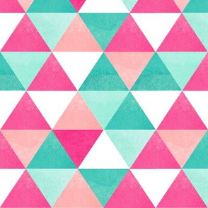 watercolor triangles pink large
