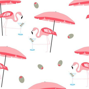 LARGE Flamingo Martini Retro Bird Cocktail 50s _ Miss Chiff Designs