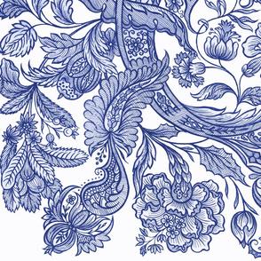 Dutch Sitsen ~ Anika ~ Willow Ware Blue and White