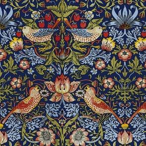 William Morris ~ Strawberry Thief ~ Bright Blue