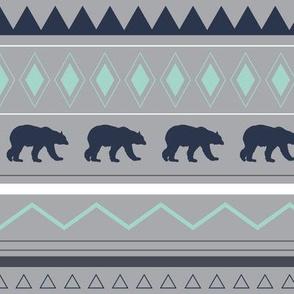 bear tribal pattern colorful