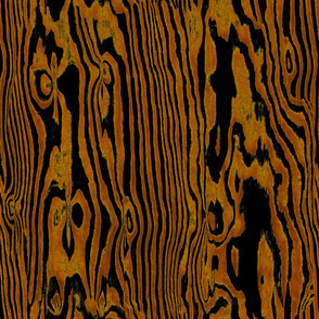 Faux Bois Woodgrain ~ Golden Brown on Black
