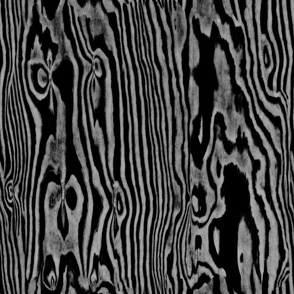 Faux Bois Woodgrain ~ Black and White