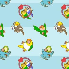 Little Parrots - Blue