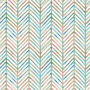 pine chevron - white