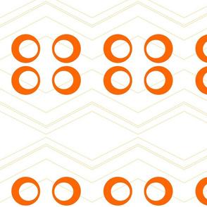 Chevron Circles Orange