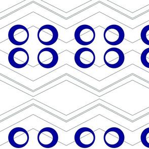 Chevron Circles Blue